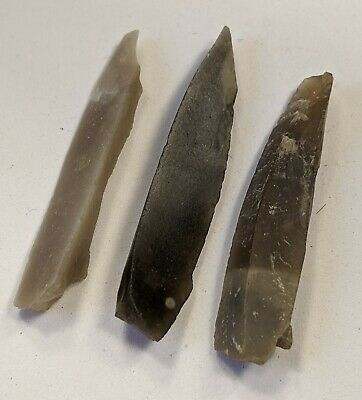Early Upper Palaeolithic, X3 Gravette Points c28k Yrs