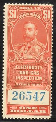 Canada ~ Electric & Gas Inspection $1 ~ Sissons R206 ~ Mint Never Hinged ~ MNH