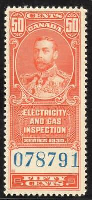 Canada ~ Electric & Gas Inspection 50 ¢ ~ Sissons R203 ~ Mint Never Hinged ~ MNH