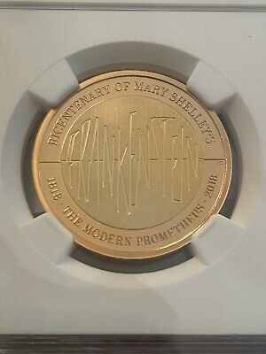 2018 Gold 2 pounds Frankenstein Gold proof NGC PF69 Ultra Cameo#4866725-062