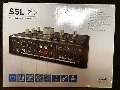 New Solid State Logic SSL 2+ SSL2+ USB 3.0 Type C Audio Interface Fast Shipping