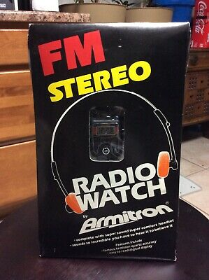 Vintage FM Stereo Radio Watch By Armitron