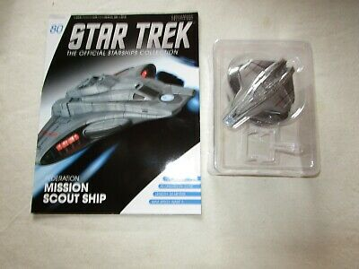 Star Trek Official Starship Collection 80 - Mission Scout Ship - Free Postage