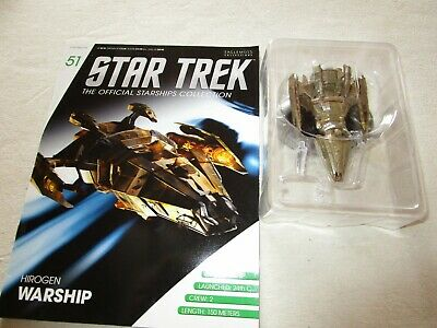 Star Trek Official Starship Collection 51 - Hirogen Warship - Free Postage