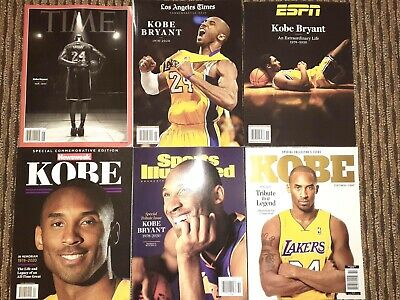 6 Issues Kobe Bryant Time Sports Illustrated ESPN Special Edition 2020 Tribute
