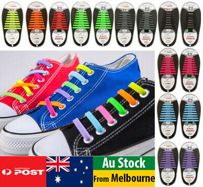 Easy Lazy No Tie Elastic Silicone Shoe Laces Cool Guy Shoelaces Kids Auldt