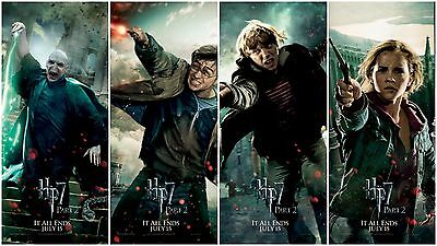 Harry Potter and the Deathly Hallows Movie Vinyl Banner Posters (Set of 4)