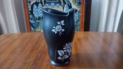 A Black With White Pattern Sylvac Vase