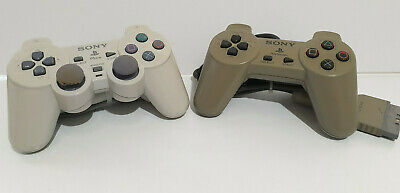 Official Sony PS One DualShock Controller + Sony Playstation 1 Grey Controller