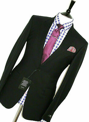 Bnwt Mens Paul Smith Ps London 2020 Collection Black Slim Fit Suit 38R W32