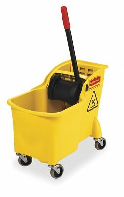 Rubbermaid Commercial Products Yellow Polypropylene Mop Bucket and Wringer, 7.75