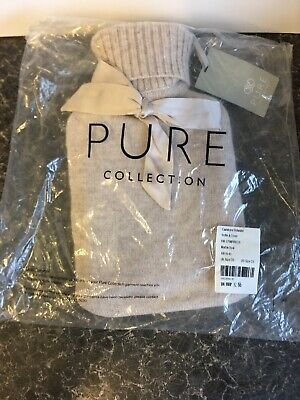 BNWT Pure Collection HOT WATER BOTTLE & COVER Rrp £55