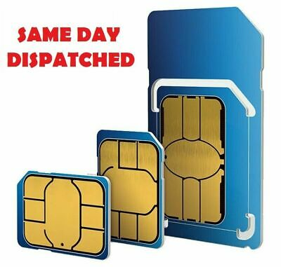 O2 Sim Card PAYG Only 20p Classic O2 Pay As You Go 02 2G/3G/4G All Sizes