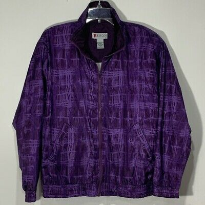 Vintage Lavon Purple Track Jacket windbreaker size small