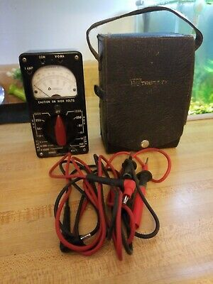 Vintage Triplett Electric Instr. Cooperation 666-R Multimeter W/Orig Case