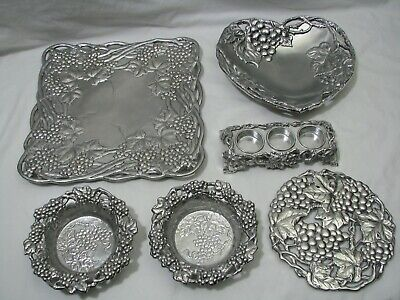 Arthur Court Grapes Heart Dish, Tray, Dish,Bottle Coaster, Trivet, Candle Holder