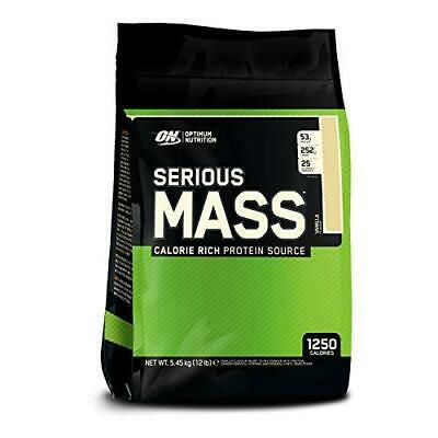 Optimum Nutrition Serious Mass Protein Powder High Calorie Gainer with...