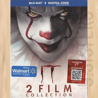 Stephen King's IT Chapter One & Two WALMART BLU-RAY 2-Film Collection       0209
