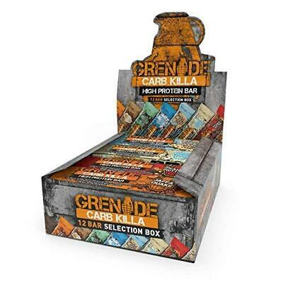 Grenade Carb Killa High Protein and Low Bar, 12 x 60g 60 g (Pack of 12)