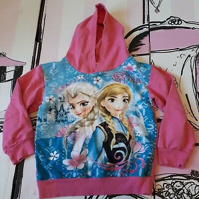 Girls Age 10 Years Pink Frozen Hooded Jumper Cotton Hoodie Elsa Anna by Hot Pet