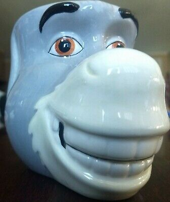 """Donkey""  3D Face Coffee Cup 2004 Dreamworks Galerie (Shrek movies)"