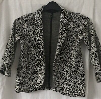 Next Girl's Black Patterned Lightweight Jacket Age 10 Wedding Christening Party