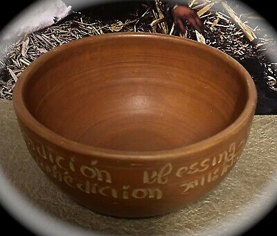 Primitive Red Clay Shamanic Ayahuasca Blessings Benediction Burnt Offerings Bowl