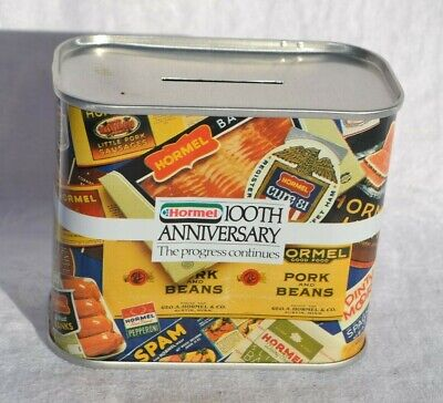 Spam Hormel Tin Bank 100th Anniversary 1891-1991 collectible Can Novelty Coin