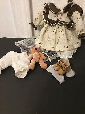 "Doll Dress/13""14""Doll Clothes 7pc-Lot-Tony Alexander Porcelain -8Pc (S18)"