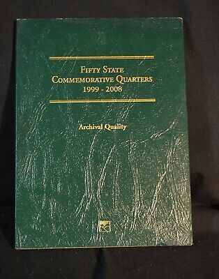Fifty State Commemorative Quarters Book Set US Coin 1999-2008 Littleton Complete