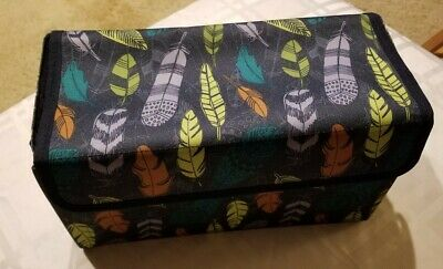 Thirty-One 31 Get Creative Case Falling Feathers Print NIP