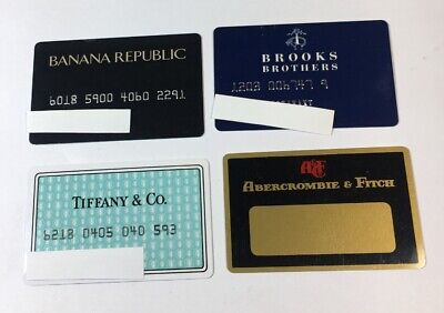 4 Vintage Expired Credit Cards For Collectors -  Retail Store Lot (7140)