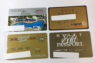 4 Vintage Expired Credit Cards For Collectors - Hotel Charge Card Lot (7147)