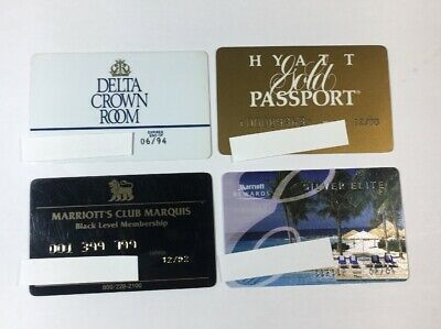 4 Vintage Expired Credit Cards For Collectors - Hotel Charge Card Lot (7148)