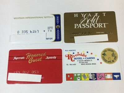 4 Vintage Expired Credit Cards For Collectors - Hotel Charge Card Lot (7149)