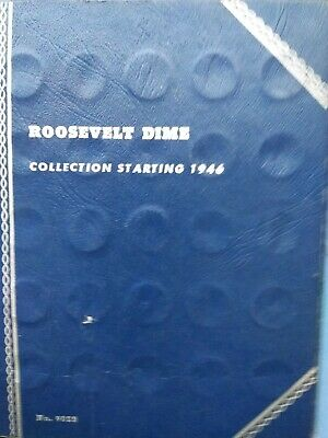 1946-1978-P,D,S ROOSEVELT DIME SET-in used #9029 Whitman album COMPLETED