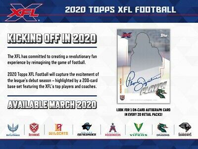 2020 Topps XFL Football 10ct Blaster Box PRESALE 3/18/20