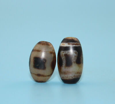 20*13 mm Antique Dzi Agate old   Bead from Tibet **Free shipping**