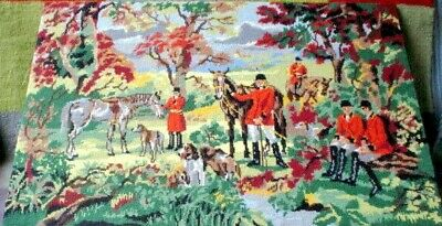 Hunting Scene Tapestry 71 X 46 Cm No Glass Or Frame Ready To Hang See Pics