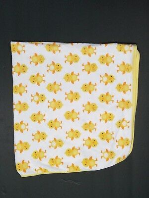 Carters Just One You Baby Blanket Chicks Ducks Yellow Orange Cotton Receiving