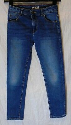 Boys George Blue Whiskered Denim Adjustable Waist Skinny Jeans Age 8-9 Years