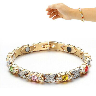Women Therapeutic Energy Healing Bracelet Magnetic Therapy Bracelet Pain Relief