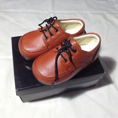 EARLY STEPS BABY SPECIAL OCCASION /CHRISTENING SHOES Brown SIZE 3 infant bnib