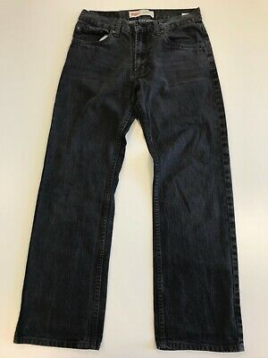 N162 Boys / Girls Levi Strauss 505 Grey Regular Straigh Leg Jeans Age 16 W28 L28