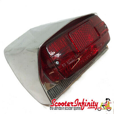 Rear Light Unit (Polished Alloy) (Lambretta LI SX TV - Series 3)