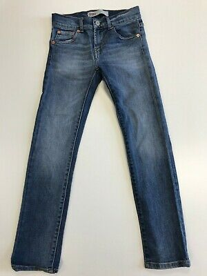 N177 Boys / Girls Levi Strauss 510 Blue Skinny Stretch Jeans Age 8 W24 L26