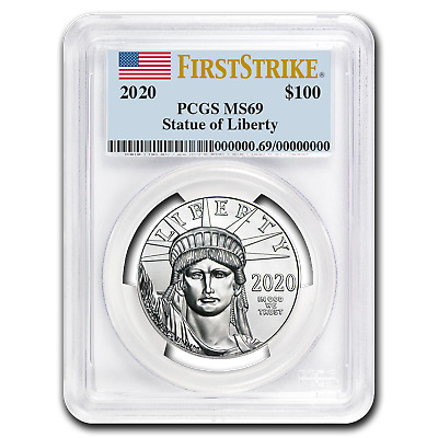 2020 1 oz Platinum American Eagle MS-69 PCGS (FirstStrike®) - SKU#199410