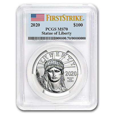 2020 1 oz Platinum American Eagle MS-70 PCGS (FirstStrike®) - SKU#199408