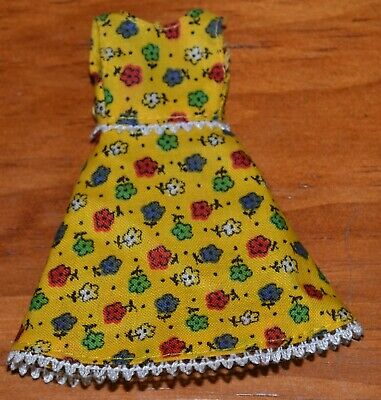 Palitoy Pippa Doll 4Th Issue Pippa Yellow Floral Dress 1970'S Fits Dawn