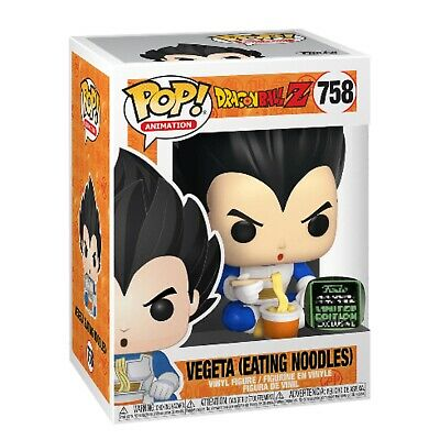 Funko Pop! Vegeta Eating Noodles ECCC SHARED Exclusive DBZ Preorder + Protector